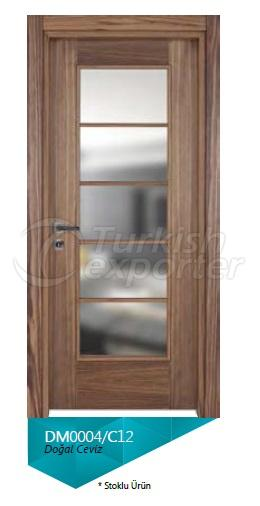 Nat. Walnut Veneered Glazed Door