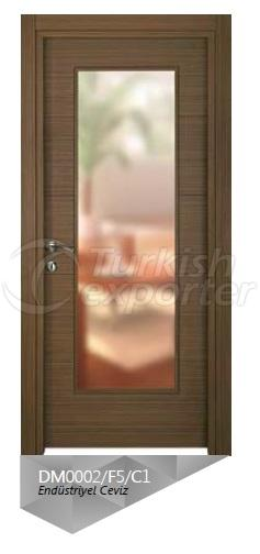Eng. Walnut Veneered Glazed  Door