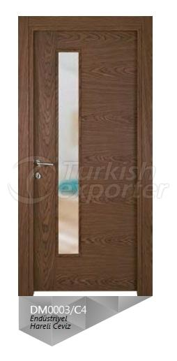 Eng. Crown Cut Walnut Veneered Door