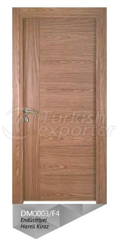 Eng. Crown Cut Cherry Veneered Door