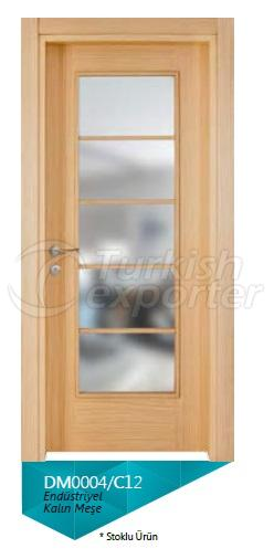 Eng. Thick Oak Veneered Glazed Door