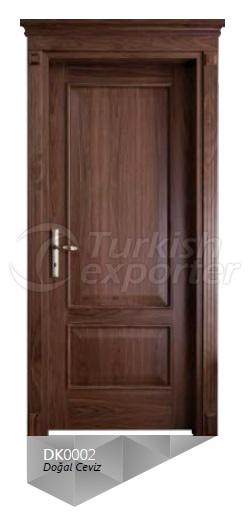 Nat. Walnut Veneered Door