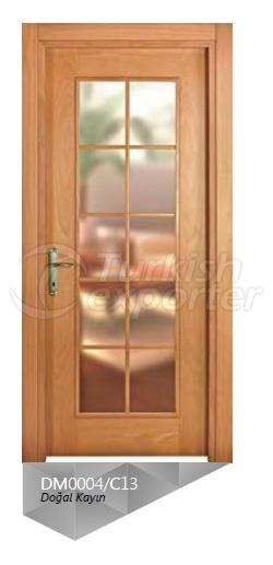 Nat. Beech Veneered Glazed  Door