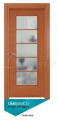 Eng. Sapelli Veneered Glazed Door