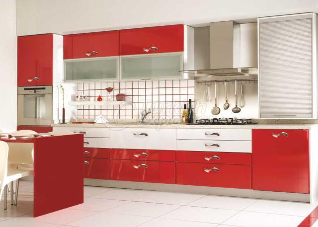 Membrane Cabinet Doors KL1 Kırmızı