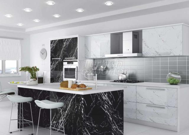 Membrane Cabinet Doors 101 Siyah Granit