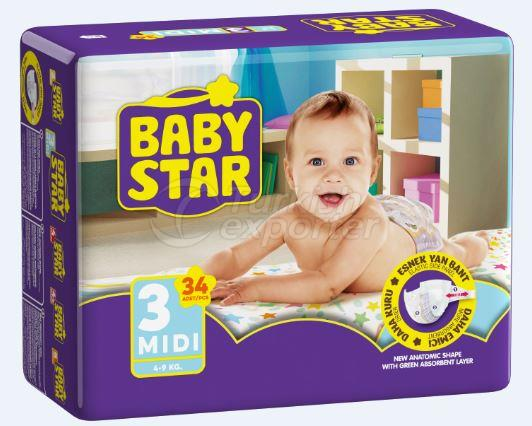 BABY STAR TWIN MIDI 34 PCS
