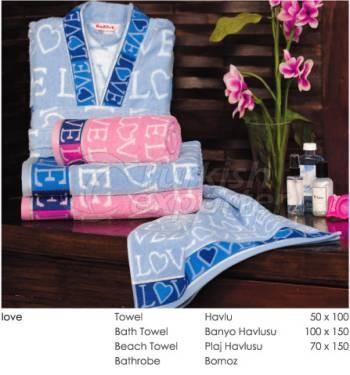 Towel - Bathrobe Sets Love