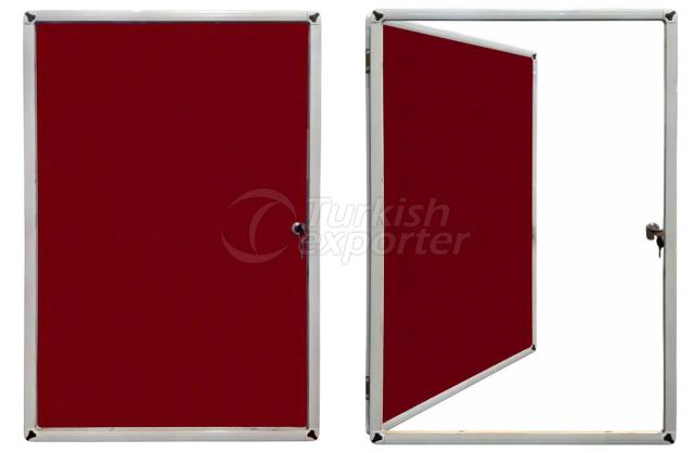 Thin Frame Corkboard with Cover
