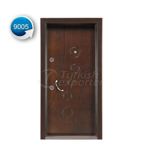 Steel Door Vetro 9005