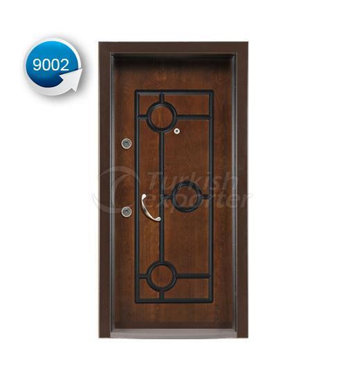 Steel Door Vetro 9002