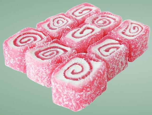 Strawberry Roll Turkish Delight