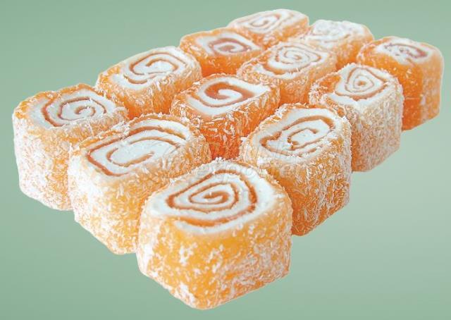 Orange Roll Turkish Delight