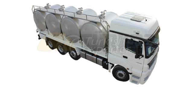 Milk Transportation Tank With Four Tanks
