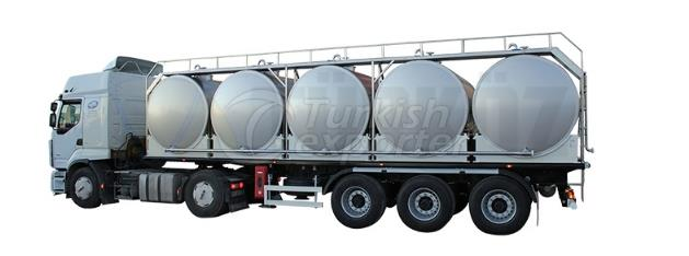 Milk Transportation Tank With Five Tanks