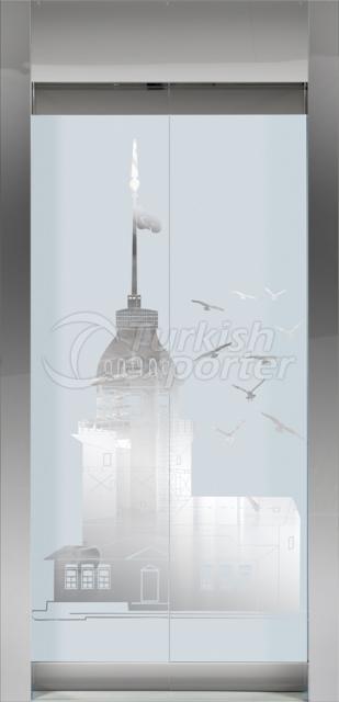 Framed Glass Door Kız Kulesi