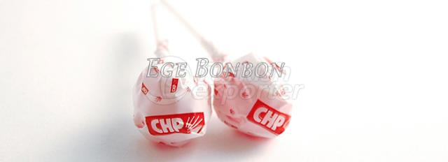 Ball Lollipop Candy with Logo