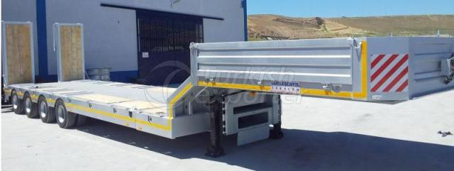 Lowbed semi Trailer With 4 Axles