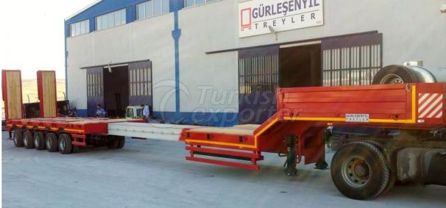 5 Axles Lowbed Semi Trailer