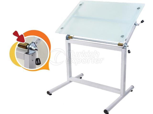 Glass Drawing Tables