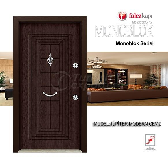 Steel Door Jupiter Modern Ceviz