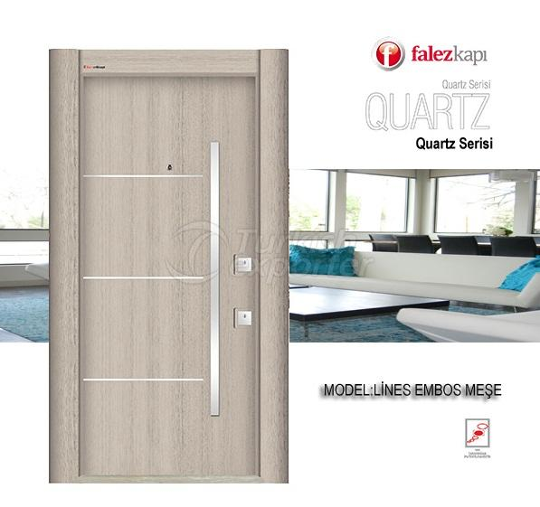 Steel Door Lines Embos Mese