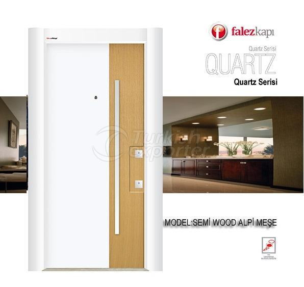 Steel Door Semi Wood Alpi Mese