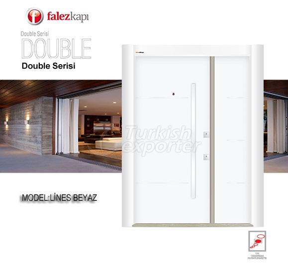 Steel Door Lines Beyaz
