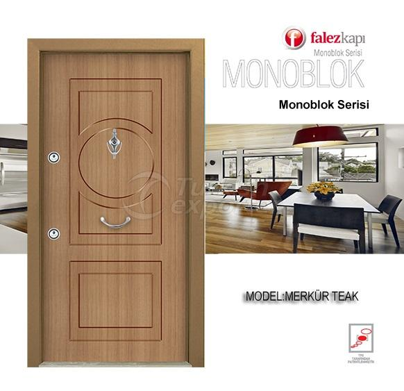 Steel Door Merkur Teak