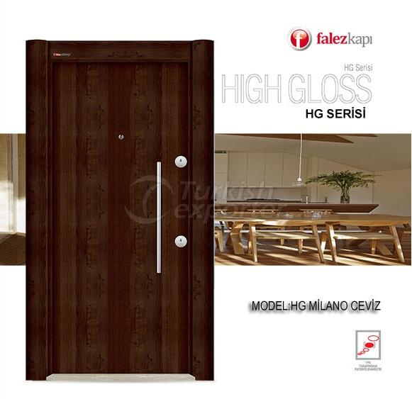 Steel Door Hg Milano Ceviz