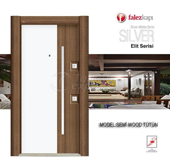 Steel Door Semi Wood Tutun