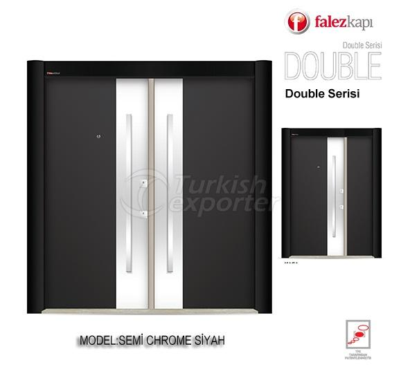 Steel Door Semi Chrome Siyah
