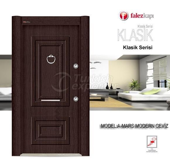 Steel Door Mars Modern Ceviz