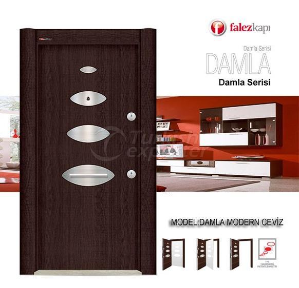 Steel Door Damla Modern Ceviz