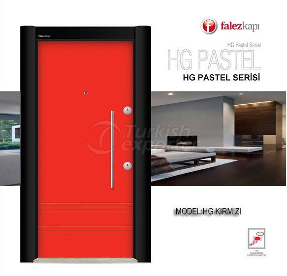 Steel Door Hg Pastel Kırmızı