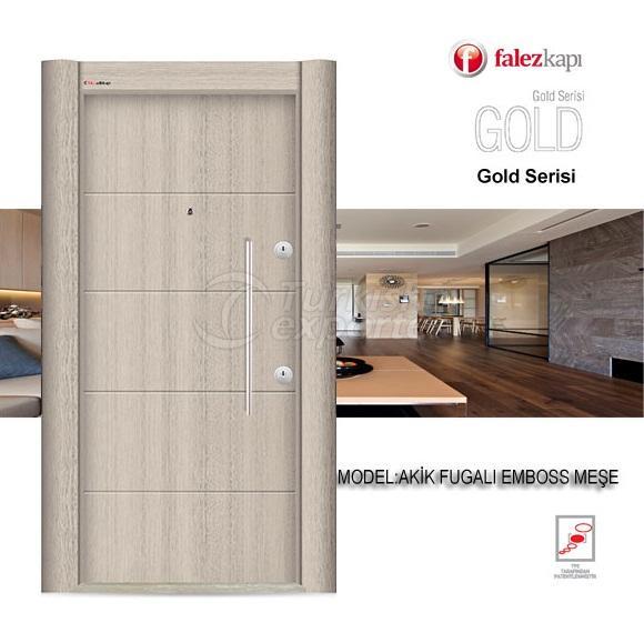 Steel Door Akik Fugalı Emboss Meşe