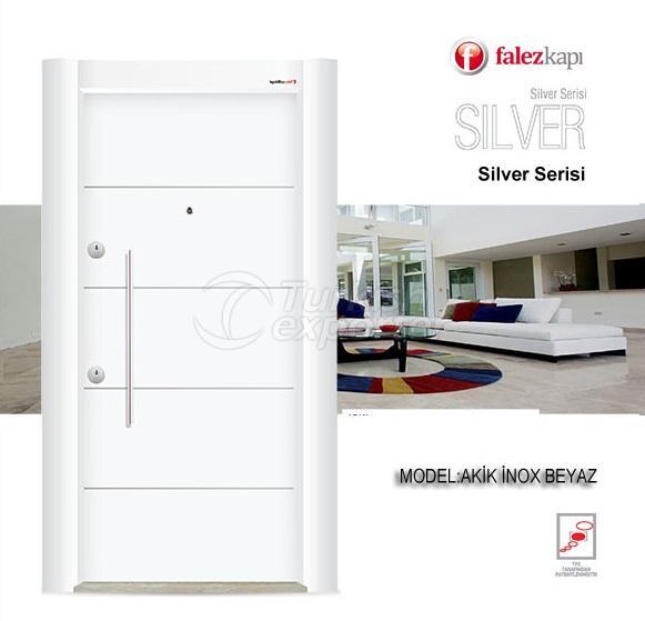 Steel Door Akik Inox Beyaz