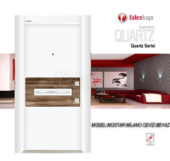 Steel Door Mostar Milano Ceviz Beyaz