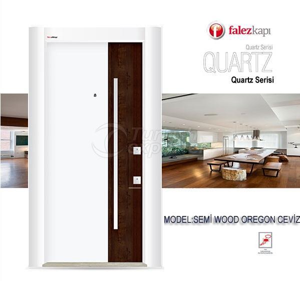 Steel Door Semi Wood Oregon