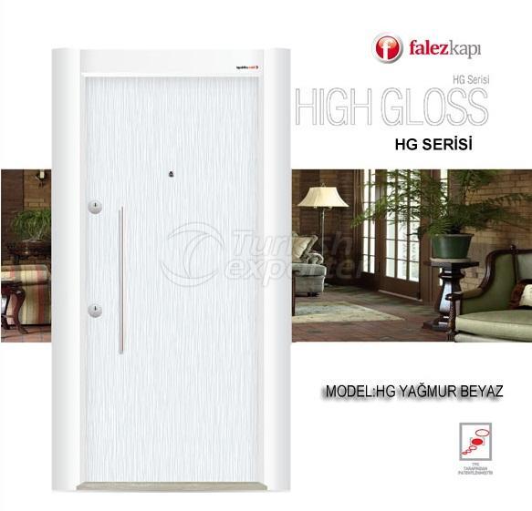 Steel Door Hg Yağmur Beyaz