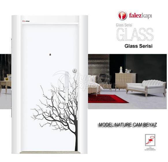 Steel Door Nature Cam Beyaz