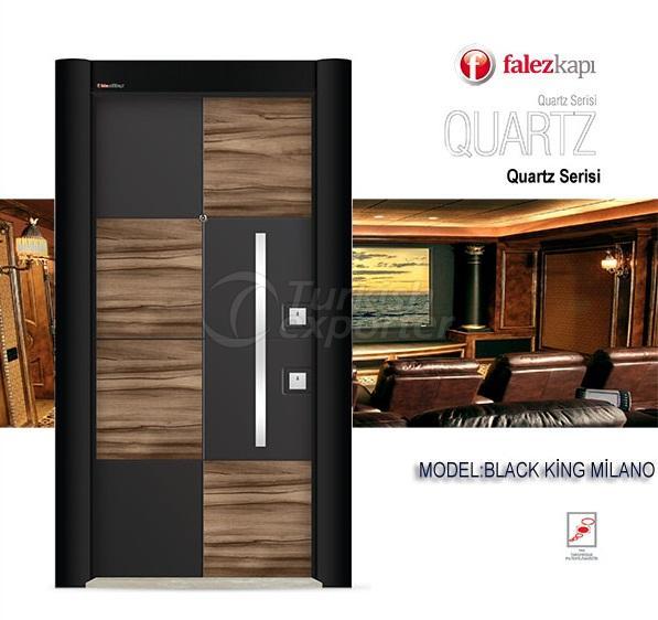 Steel Door Black King Milano