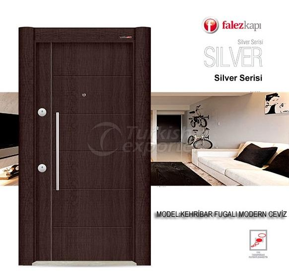 Steel Door Kehribar Fugalı Ceviz
