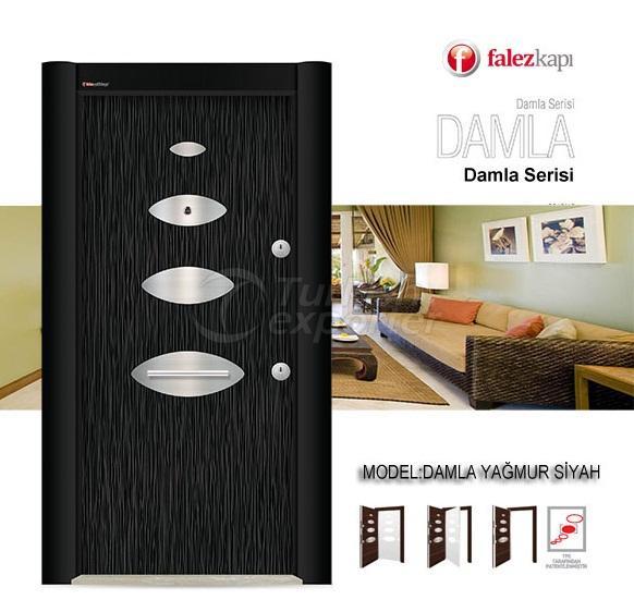 Steel Door Damla Yağmur Siyah