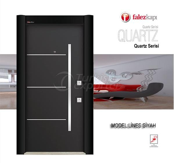 Steel Door Lines Siyah