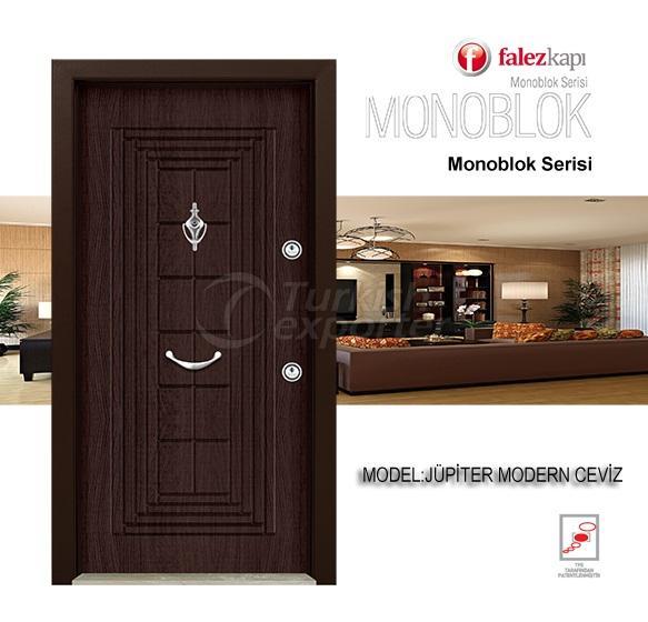 Steel Door Jupiter Modern Ceviz