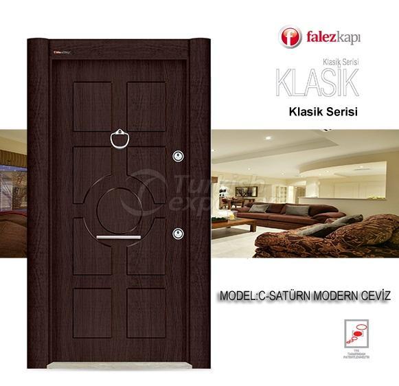 Steel Door Saturn Modern Ceviz