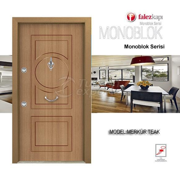 Steel Door Merkur Teak