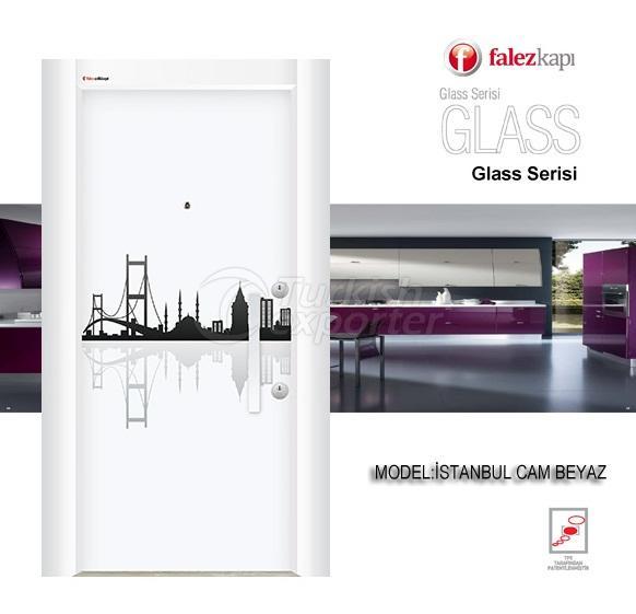 Steel Door Istanbul Cam Beyaz