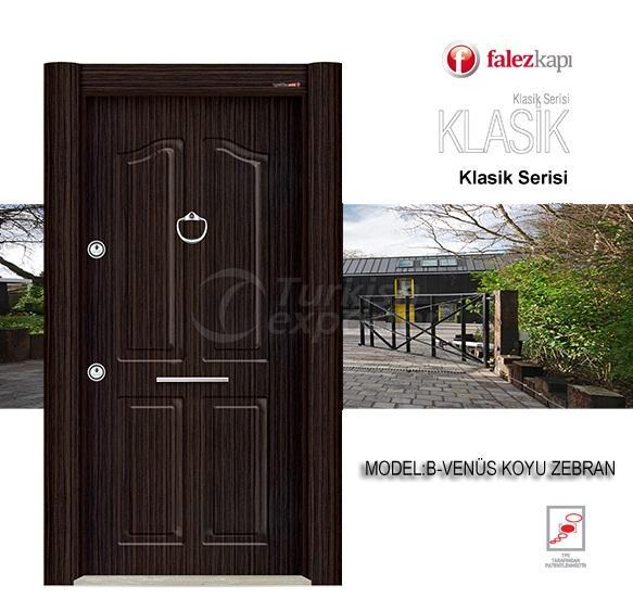 Steel Door Venüs Koyu Zebran